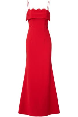 Cherry Crepe Gown by JS Collection