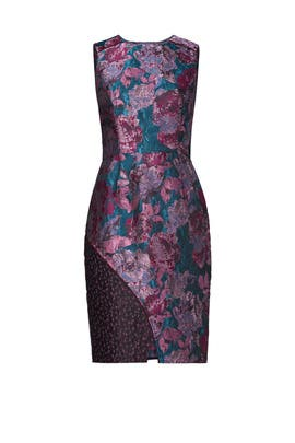 Mixed Jacquard Floral Sheath by Slate & Willow