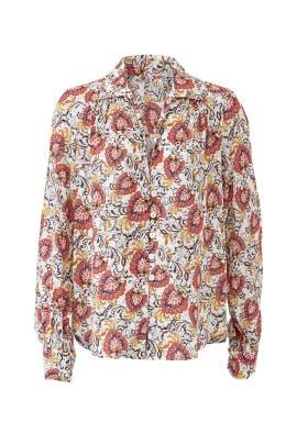 Floral Pleat Back Shirt by Fifteen Twenty
