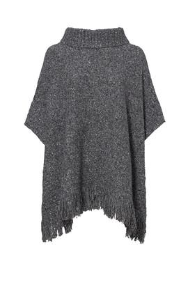 Grey Hatice Poncho Sweater by Joie