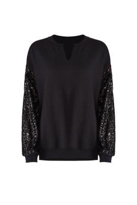 Sequin Sleeve Sweatshirt by JET John Eshaya