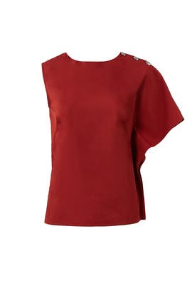 Red Asymmetrical Top by Marni