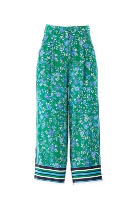 Aster Floral Crop Pants by Nicholas