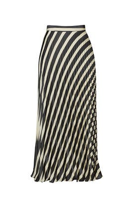 Black and White Pleated Skirt by Nicole Miller