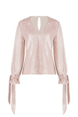 Pink Sequin Top by C/MEO COLLECTIVE