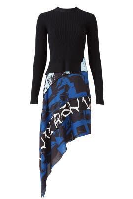 Indigo Georgette Dress by Proenza Schouler