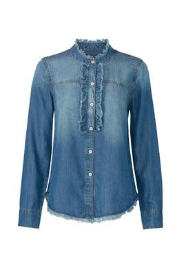 Frayed Chambray Shirt by Splendid