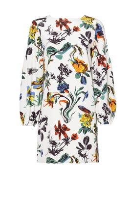 Ivory Gothic Floral Shift by Tibi