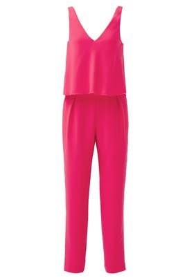 Pink Oceanside Jumpsuit by Trina Turk