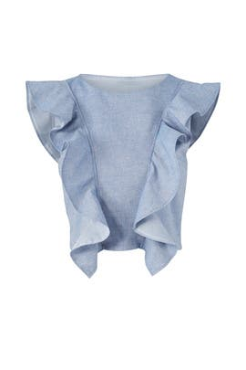 Magnolia Chambray Top by Viva Aviva
