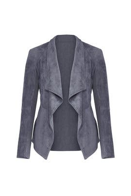 Grey Faux Suede Jacket by BB Dakota