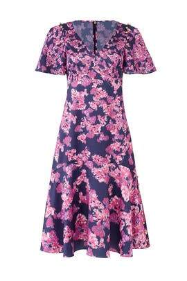 Navy Blooming Midi Dress by Prabal Gurung