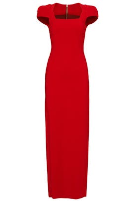 Rouge Sleek Zip Gown by Antonio Berardi