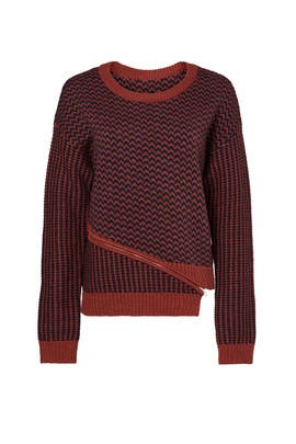 Burgundy Mixed Stitch Sweater by ASTR