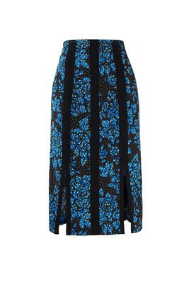 Blue and Black Skirt by Diane von Furstenberg