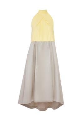 Colorblock Halter Dress by Jil Sander Navy