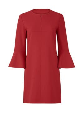 Structured Crepe Dress by Tibi