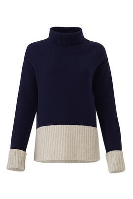 Turtleneck Contrast Sweater by Derek Lam 10 Crosby