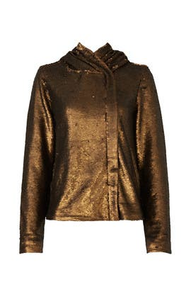Gold Sequin Jacket by Free People