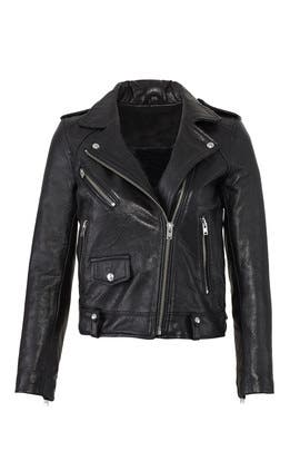 Black Ebeyna Leather Jacket by Iro