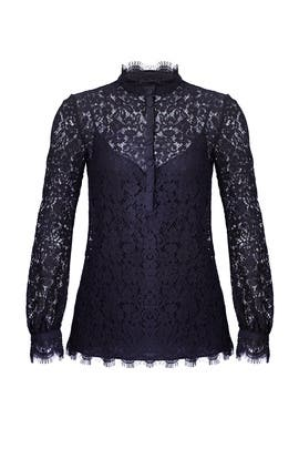 Navy Georgia Lace Top by Rachel Zoe