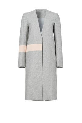 Grey Wool Abstract Coat by ELLIATT
