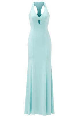 Aqua Diamond Cut Gown by Jay Godfrey