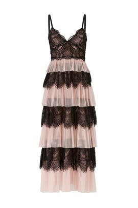 Blush Tiered Tulle Dress by Marchesa Notte