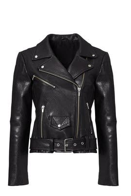 Black Jayne Classic Moto Jacket by VEDA