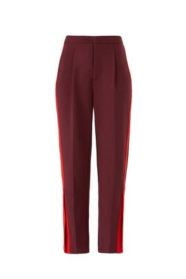 Red Abigail Trousers by Habitual