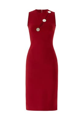 Diagonal Cutout Pencil Dress by David Koma
