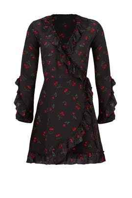 Cherry Love Wrap Dress by The Kooples