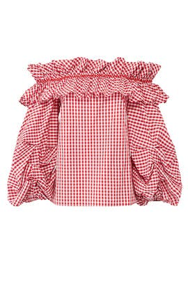 Red Gingham Bowie Top by Petersyn