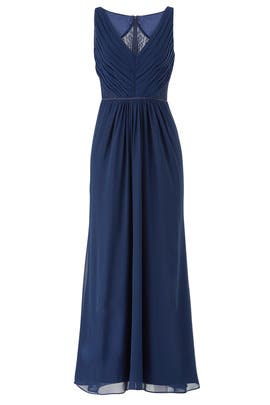 Navy Amelia Gown by Monique Lhuillier