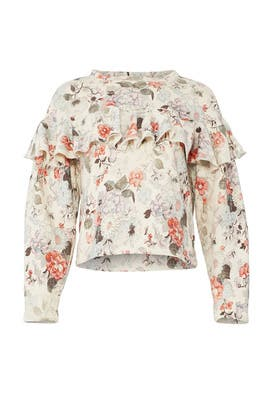 Lua Floral Pullover by Rebecca Taylor