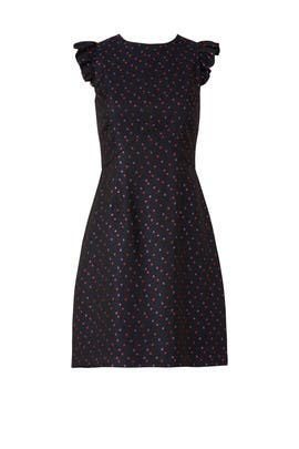 Navy Dot Davis Dress by Trina Turk