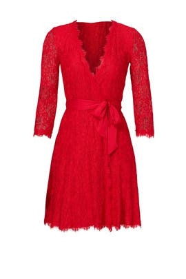 Red Julita Wrap Dress by Diane von Furstenberg