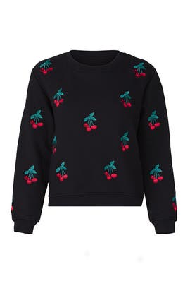 Cherry Print Sweatshirt by The Kooples