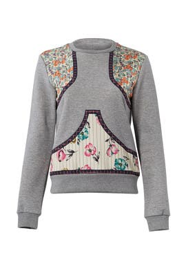 Floral Grey Sweatshirt by RED Valentino