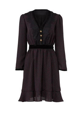 Dot Long Sleeve Dress by The Kooples