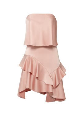 Blush Flounce Dress by Halston Heritage