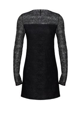 Black Lace Micro Dot Dress by Jason Wu