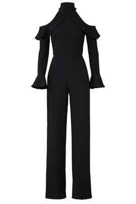 Black Cold Jumpsuit by ML Monique Lhuillier