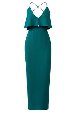 Teal Rory Dress by STYLESTALKER