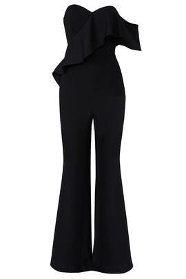 Black Amelia Jumpsuit by Adelyn Rae