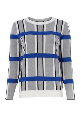 Grid Printed Sweater by English Factory