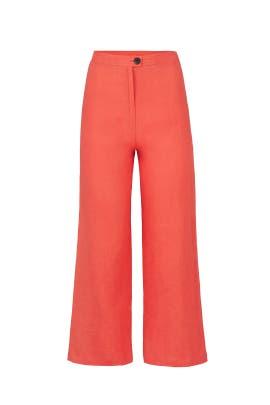 Red Arlene Pants by Mara Hoffman