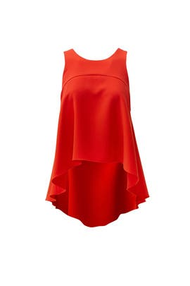Red Trapeze Top by Milly