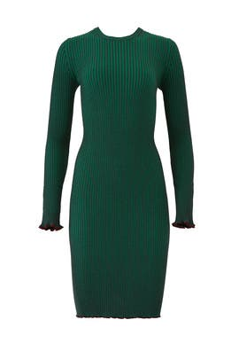 Green Rib Knitted Dress by Scotch & Soda