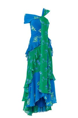 Graphic Floral Briella Gown by Tanya Taylor